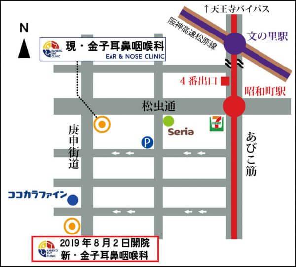 金子耳鼻咽喉科_地図